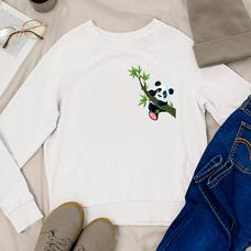 "Свитшот ""Little Panda"", белый"