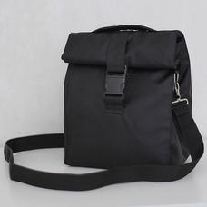 Термо сумка для ланча Lunch bag на ремне, чёрная