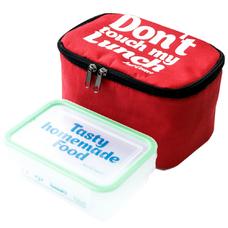 "Термо сумочка для ланча ""Don`t touch"" мини, красная"
