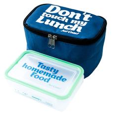 """Термо сумочка для ланча """"Don`t touch"""" мини, синяя"""