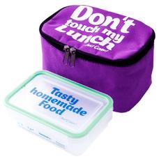 """Термо сумочка для ланча """"Don`t touch"""" мини, сиреневая"""