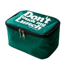 "Термо сумочка для ланча ""Don`t touch"" мини, зелёная"