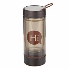 Бутылка для воды (стеклянная колба), коричневая