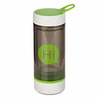 Бутылка для воды (стеклянная колба), зелёная