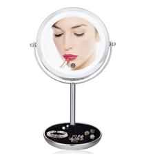 Зеркало для макияжа с LED-подсветкой, двойное 5X