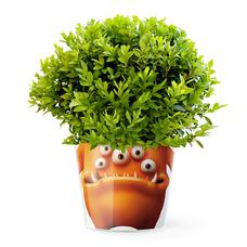 "Кашпо MyFacepot ""Plant Monster (orange)"""