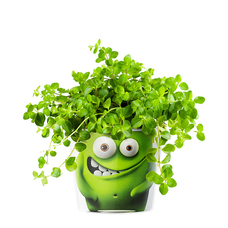 "Кашпо MyFacepot ""Plant Monster (green)"""