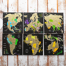Набор скретч-открыток «Map of the World»