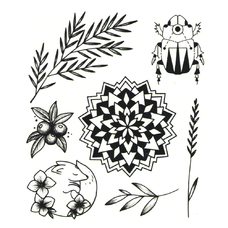 """Сет временных татуировок """"Мандала"""""""