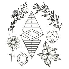 """Сет временных татуировок """"Ромб"""""""