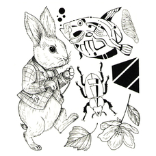 """Сет временных татуировок """"Заяц"""""""