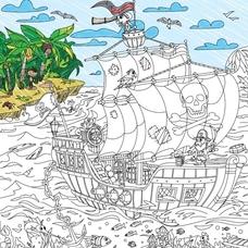 """Огромная раскраска """"Пираты на краю света"""" XL"""