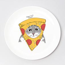 """Тарелочка """"Кот в пицце"""""""