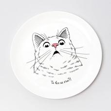 """Тарелочка """"Здивований кіт"""""""