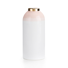 "Ваза ""Бутылка"", бело-розовая"
