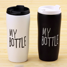"Тамблер керамический ""My bottle"", белый - уценка"