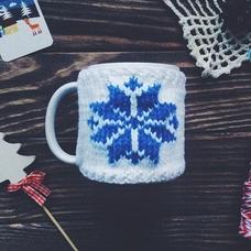 """Кружка в свитерке """"Снежинка"""", голубой"""