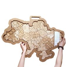 "Карта Украины ""Вышиванка"""