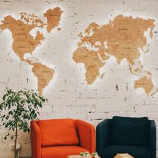 "Карта мира из дерева ""Wood World"" (размер M)"