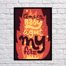 "Постер ""My fire"""