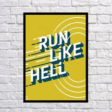 "Постер ""Run"""