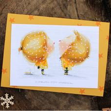 """Открытка """"Сніжинки дарують свої поцілунки"""""""