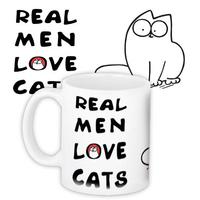 """Кружка """"Real men love cats"""""""