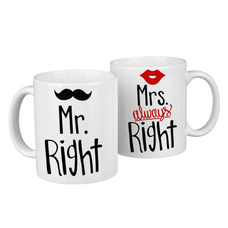 "Кружки ""Mr and Mrs Right"""