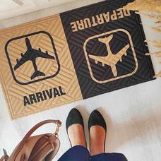 """Коврик придверный """"Arrival Departure"""""""
