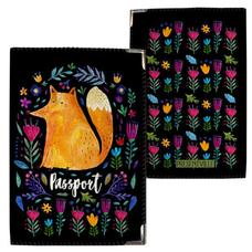 """Обложка на паспорт """"Лиса и цветы"""""""
