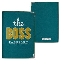 "Обложка на паспорт ""The boss"""
