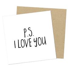 """Открытка мини """"P.S. I love you"""""""