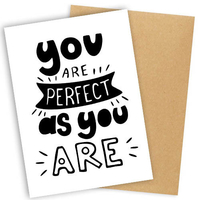 """Открытка """"You are perfect"""""""