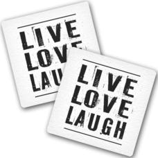 "Подставки под чашки ""Live Love Laugh"""