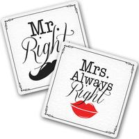 "Подставки под чашки ""Mr. and Mrs."""