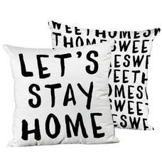 """Подушка """"Let's stay home"""""""