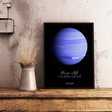 """Постер с вашим текстом """"Neptun"""""""