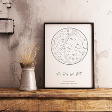 "Постер с вашим текстом ""Constellations"", A4"