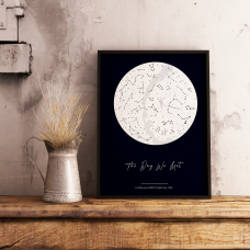 "Постер с вашим текстом ""Constellations"", A3"