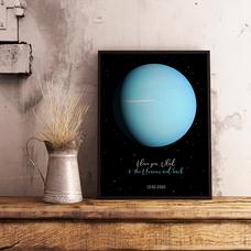 """Постер с вашим текстом """"Uranus"""""""