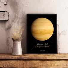 """Постер с вашим текстом """"Venus"""""""