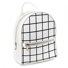 """Городской рюкзак """"В клетку"""", белый"""