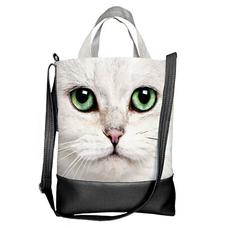 "Городская сумка ""Green-eyed cat"""