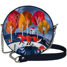 "Круглая сумочка ""Лиса в лесу"""
