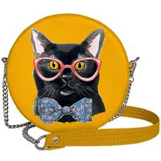 """Круглая сумочка """"Кот в очках"""""""