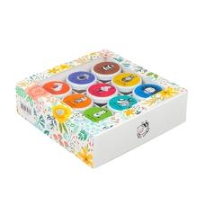 Набор из 9-ти мини-баночек мёда (по 50 г), Цветы
