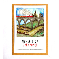 "Открытка ""Never stop dreaming"""