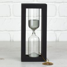 """Песочные часы """"Black-Silver"""" на 30 минут"""