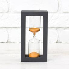"""Песочные часы """"Black-Orange"""" на 10 минут"""