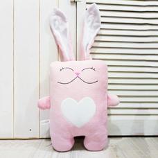 """Игрушка ручной работы """"Влюблённый заяц"""", розово-белый"""